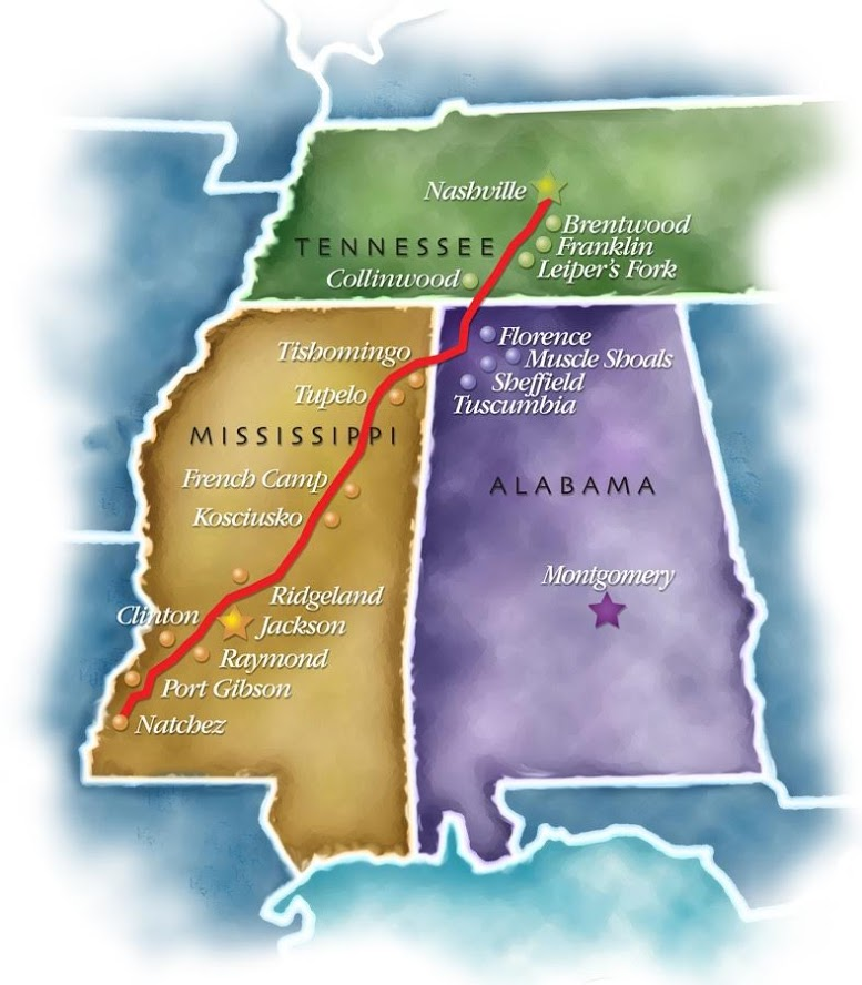 Natchez Map